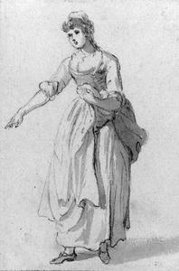 Paul Sandby - Study of a woman pointing