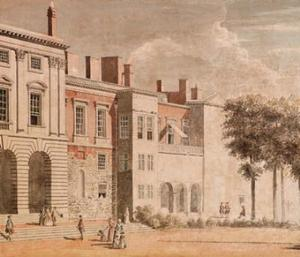 Paul Sandby - The garden front of Old Somerset House, London