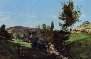 Paul Camille Guigou - Landscape in the Durance Valley