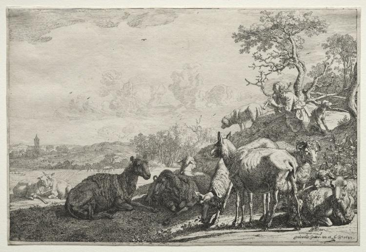 The Shepherd by Paulus Potter (1625-1654, Netherlands) | Art Reproductions Paulus Potter | WahooArt.com