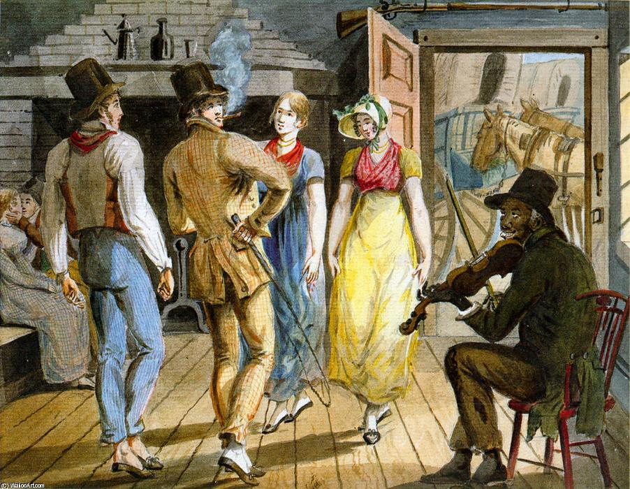 Merrymaking at Wayside Inn by Pavel Petrovich Svinin (1787-1839, Russia) | WahooArt.com