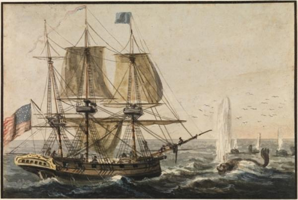 Replenishing the Ship's Larder with Codfish off the Newfoundland Coast by Pavel Petrovich Svinin (1787-1839, Russia)