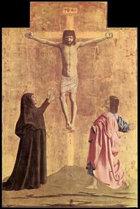 Piero Della Francesca - Polyptych of the Misericordia. Crucifixion