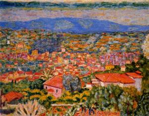 Pierre Bonnard - Cannet landscape, view of the roofs
