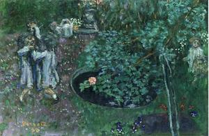 Pierre Bonnard - Children Playing in a Garden