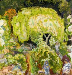 Pierre Bonnard - Landscape with Three Figures and Willow
