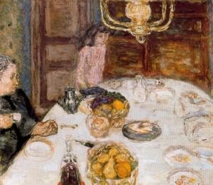 Pierre Bonnard - Lunch at Le Grand Lamps