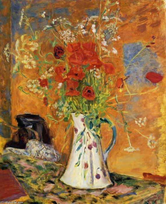 Poppies, 1915 by Pierre Bonnard (1867-1947, France) | Famous Paintings Reproductions | WahooArt.com