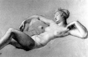 Pierre-Paul Prud'hon - Female Nude Reclining