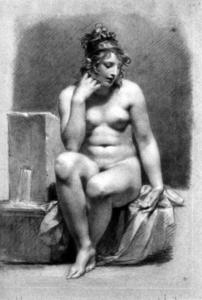 Pierre-Paul Prud'hon - Seated Female Nude by a Fountain
