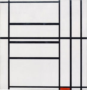 Piet Mondrian - Composition No. 1 with Grey and Red 1938 / Composition with Red 1939