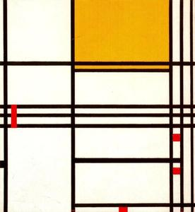 Piet Mondrian - Composition with Black, White, Yellow and Red