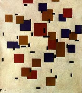 Piet Mondrian - Composition with planes of pure color on a white background