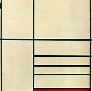Piet Mondrian - Composition with Red and Black