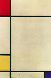 Piet Mondrian - Composition with red, yellow and blue 2