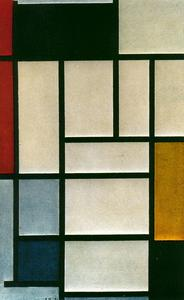 Piet Mondrian - Composition with red, yellow and blue 3