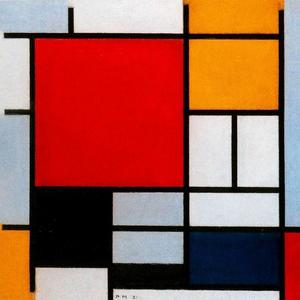 Piet Mondrian - Composition with Red. Yellow and Blue 1
