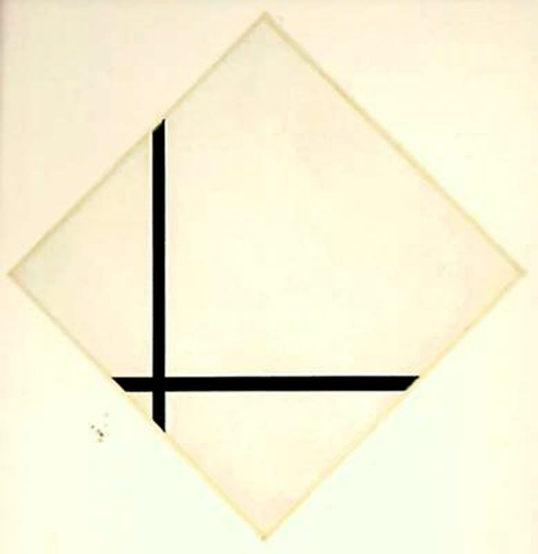 Order Paintings Reproductions | Composition with two lines by Piet Mondrian (1872-1944, Netherlands) | WahooArt.com