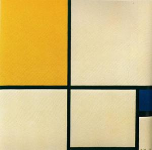 Piet Mondrian - Composition with yellow and blue