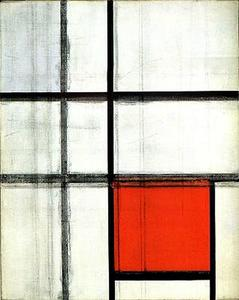 Piet Mondrian - Composition. Unfinished