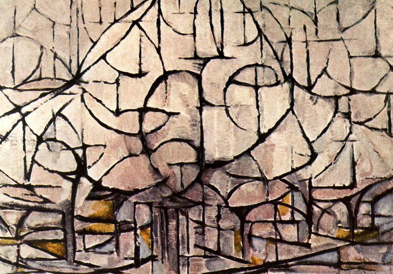 Flowering Trees by Piet Mondrian (1872-1944, Netherlands)
