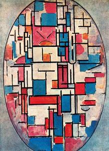 Piet Mondrian - Oval Composition with light colors
