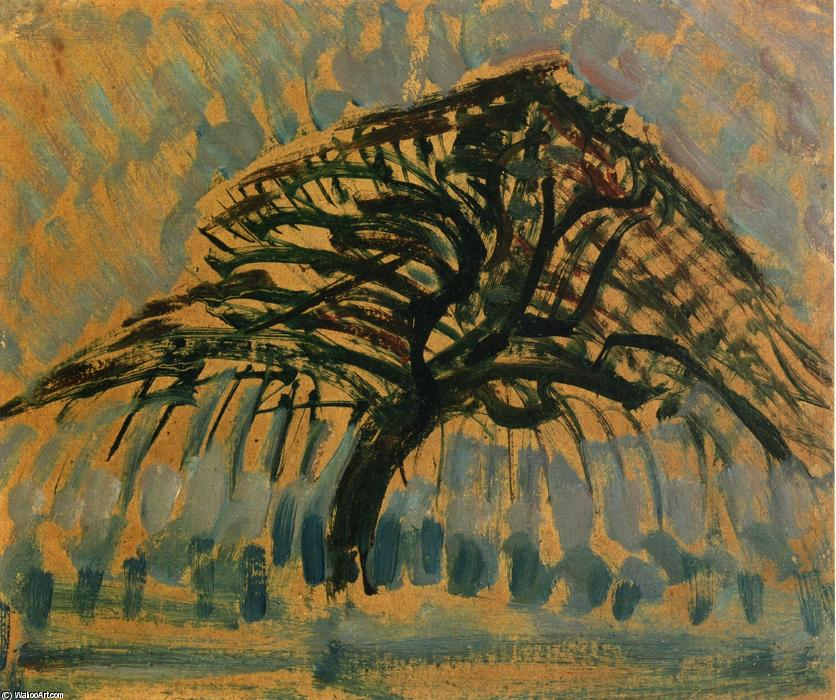 Order Art Reproduction : Study for Blue Apple Tree Series by Piet Mondrian (1872-1944, Netherlands) | WahooArt.com