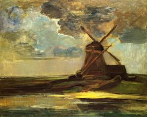 Piet Mondrian - Windmill in the Gein