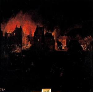 Pieter Bruegel The Younger - Burning and looting of a population
