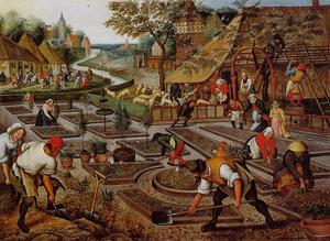 Pieter Bruegel The Younger - Preparation of the Flower Beds