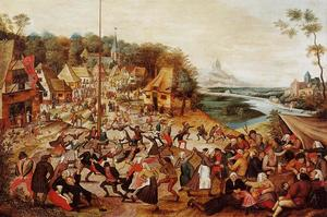 Pieter Bruegel The Younger - The Dance around the May Pole