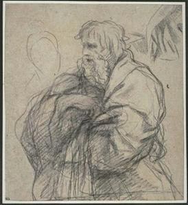 Pietro Da Cortona - Old man in half-length, profile to the left