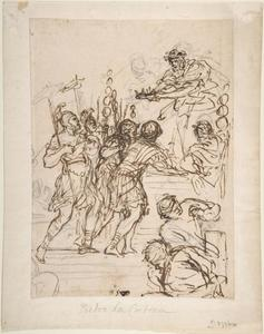 Pietro Da Cortona - Study for the Age of Bronze 1
