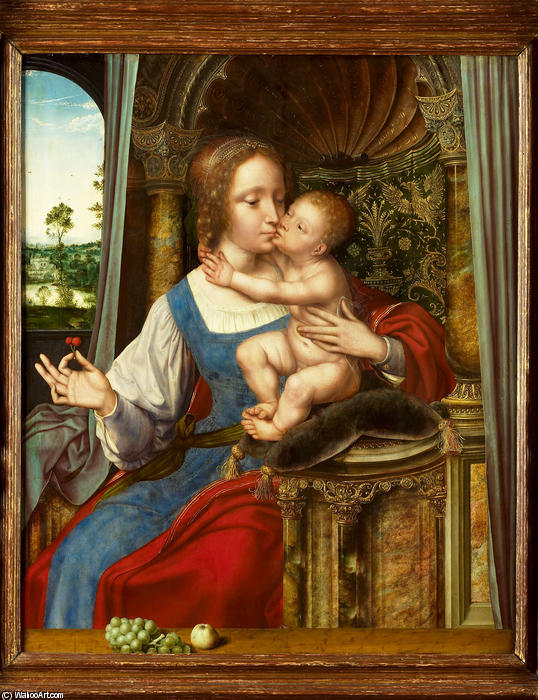 Maria met kind by Quentin Massys (1466-1530, Belgium)