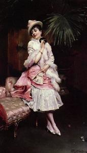 Raimundo De Madrazo Y Garreta - Lady With A Mask