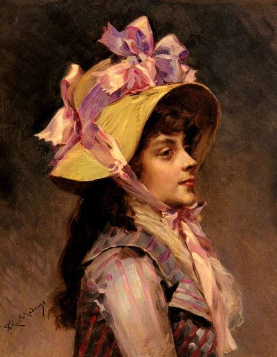 Portrait Of A Lady In Pink Ribbons by Raimundo De Madrazo Y Garreta (1841-1920, Italy) | Museum Quality Reproductions | WahooArt.com