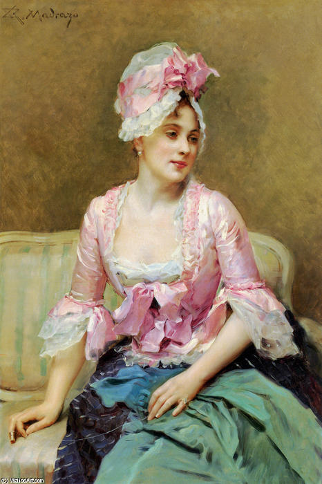 Order Art Reproduction : Portrait of Aline Mason by Raimundo De Madrazo Y Garreta (1841-1920, Italy) | WahooArt.com