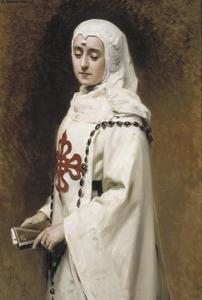 Raimundo De Madrazo Y Garreta - The Actress María Guerrero as `Doña Inés'