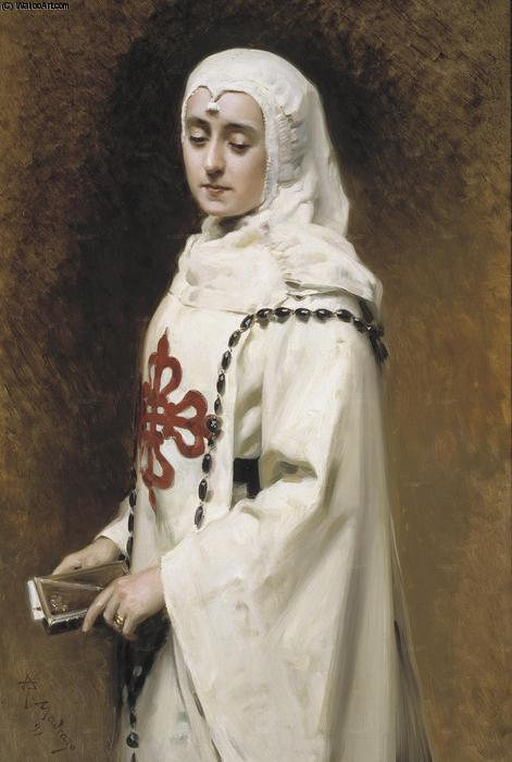 The Actress María Guerrero as `Doña Inés' by Raimundo De Madrazo Y Garreta (1841-1920, Italy)