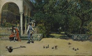 Raimundo De Madrazo Y Garreta - The Pavilion of Carlos V in the Gardens of the Alcázar of Seville