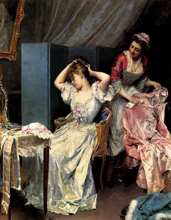 The toilette by Raimundo De Madrazo Y Garreta (1841-1920, Italy)