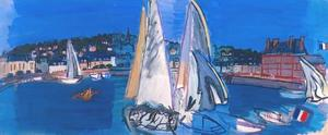 Raoul Dufy - Deauville, Drying the Sails