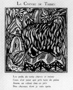 Raoul Dufy - Illustration for Le Bestiaire de Guillaume Apollinaire