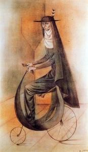 Remedios Varo - Nun bike