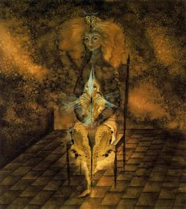 Remedios Varo - Seated woman