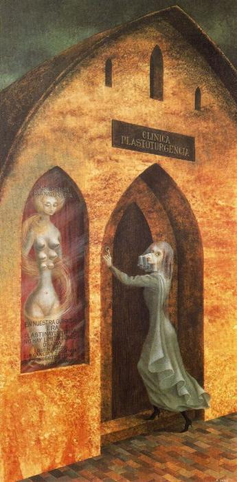 Visit to the plastic surgeon by Remedios Varo (1865-1911, Spain) | Oil Painting | WahooArt.com
