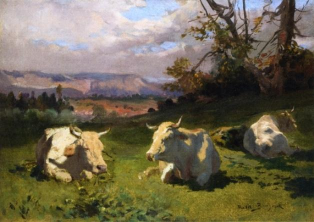 Cows Resting, Oil On Canvas by Rosa Bonheur (1822-1899, France)