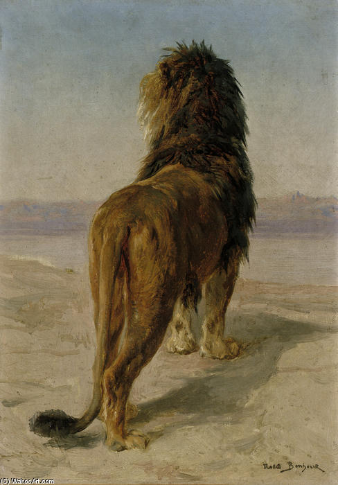 Lion by Rosa Bonheur (1822-1899, France) | Art Reproduction | WahooArt.com