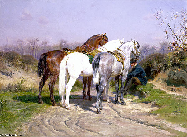 Relay Hunting by Rosa Bonheur (1822-1899, France)