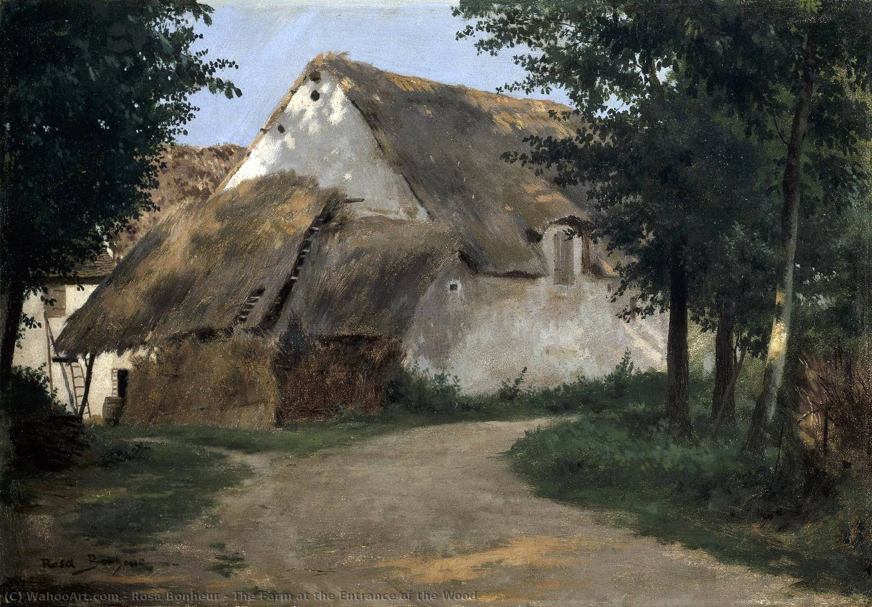 The Farm at the Entrance of the Wood by Rosa Bonheur (1822-1899, France)